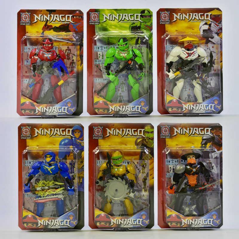 Ниндзя фигурки 6 видов герои в блистере