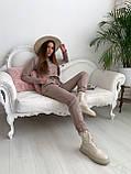 Костюм женский брючный замшевый стильный бежевый, хаки 42-44,44-46, фото 8