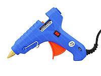 Термопистолет для силиконового клея XL-F60 60W Blue (4348), фото 1