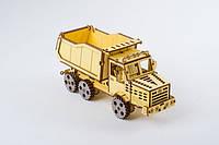 3D-пазл конструктор ekoGOODS Грузовик «Самосвал» Авто-техника пазл, Деревянные конструкторы