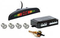 Парктроник автомобильный PAssistant на 4 датчика + LCD монитор (серебристые датчики) (4903), фото 1