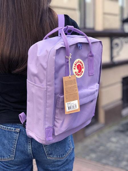 Модный женский рюкзак канкен Fjallraven Kanken classic сиреневый (светло-фиолетовый) 16 литров