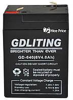 Свинцово-кислотный аккумулятор GDLITE GD-640 6V 4.0Ah (2375)