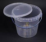 Ведро пластиковое прозрачное 1л, фото 6