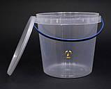 Ведро пластиковое прозрачное 1л, фото 5