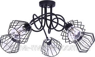Люстра Płomienna Loft 5x60W Edison 1427 / 5C Light Home