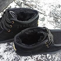 Уггі UGG черевики чоловічі мокасини зимові теплі на хутрі замша натуральна, фото 2