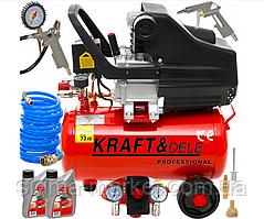 Масляный компрессор Kraft&Dele KD400 + KD412 + 2x nr853