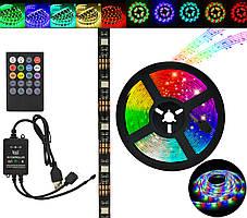 Стрічка світлодіодна в силіконі на клейкій основі (вологозахищена) RGB Music 5050 5 метрів (7373)