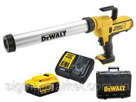 Аккумуляторный пистолет для герметика DEWALT DCE580D1 600 мл