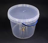 Ведро пластиковое прозрачное 5л, фото 2