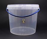 Ведро пластиковое прозрачное 5л, фото 4