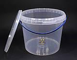 Ведро пластиковое прозрачное 5л, фото 3