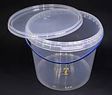 Ведро пластиковое прозрачное 5л, фото 6