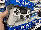 Джойстик, беспроводной геймпад Sony PS 4 DualShock 4 White, реплика ( белый ), фото 8