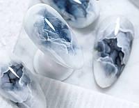 Акварельные Капли Saga Белые, 6 Мл - Акварельные флюиды аквакапли для дизайна ногтей и рисования на ногтях