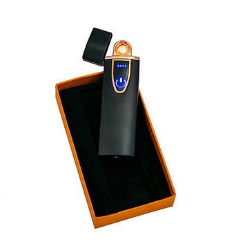 Електрозапальничка спіральна ZGP 7 глянцева, сенсорна USB запальничка   електроімпульсна usb запальничка (SV)