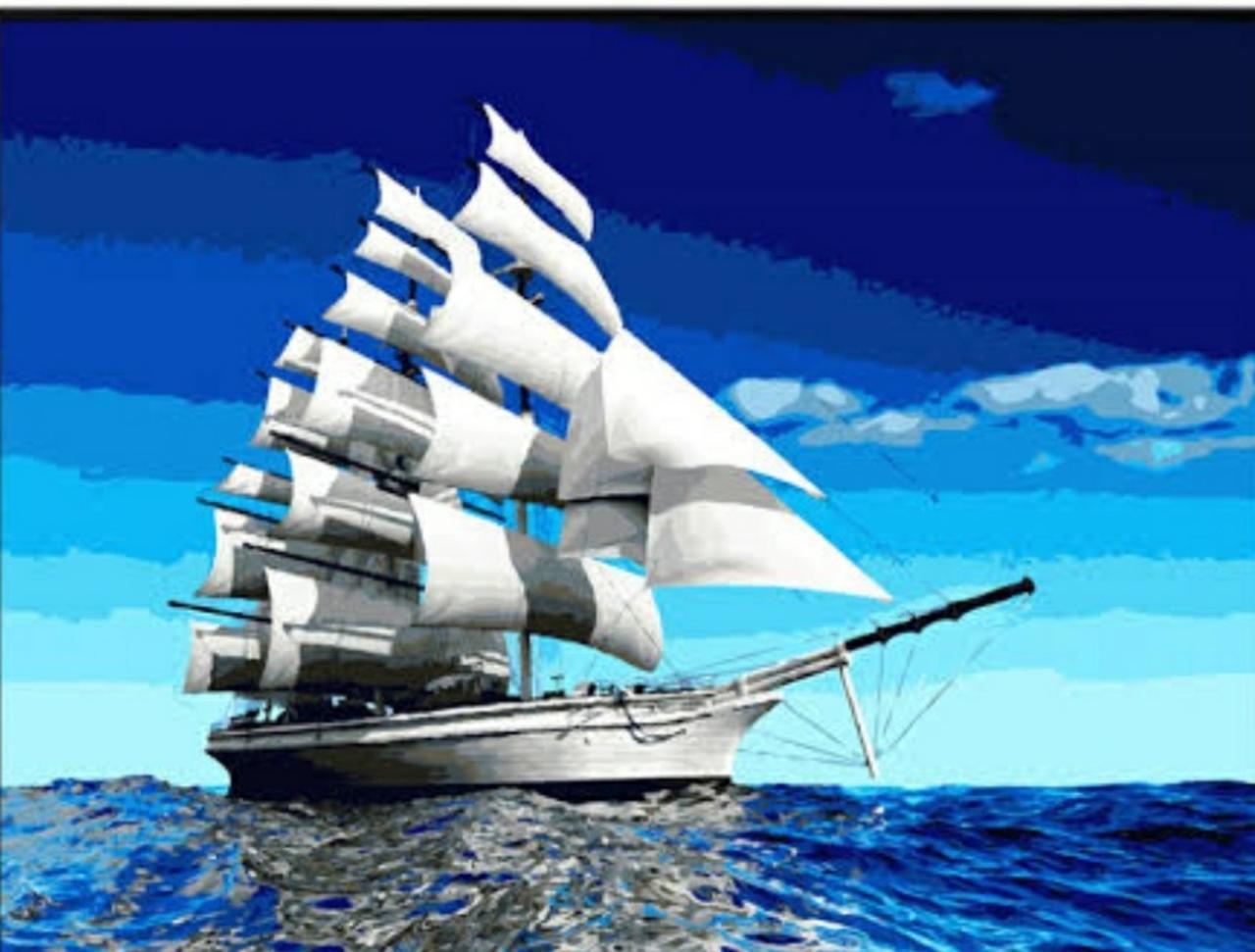 Картина по номерам 40*50 см сложность 4 Море