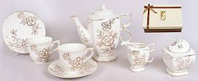 Сервиз чайный 15пр.: 6 чашек + 6 блюдец + сахарница + молочник BonaDi 284-C20