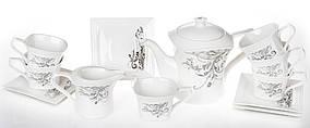 Чайный набор: чайник, молочник + 4 чашки с блюдцами BonaDi RM1-668