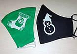 Многоразовые маски ПИТТА хлопковые (коттон кулир) трикотажные Украина принты с логотипом, фото 8