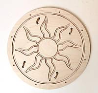 """Деревянный щит викинга """"Солнце""""  30 см"""