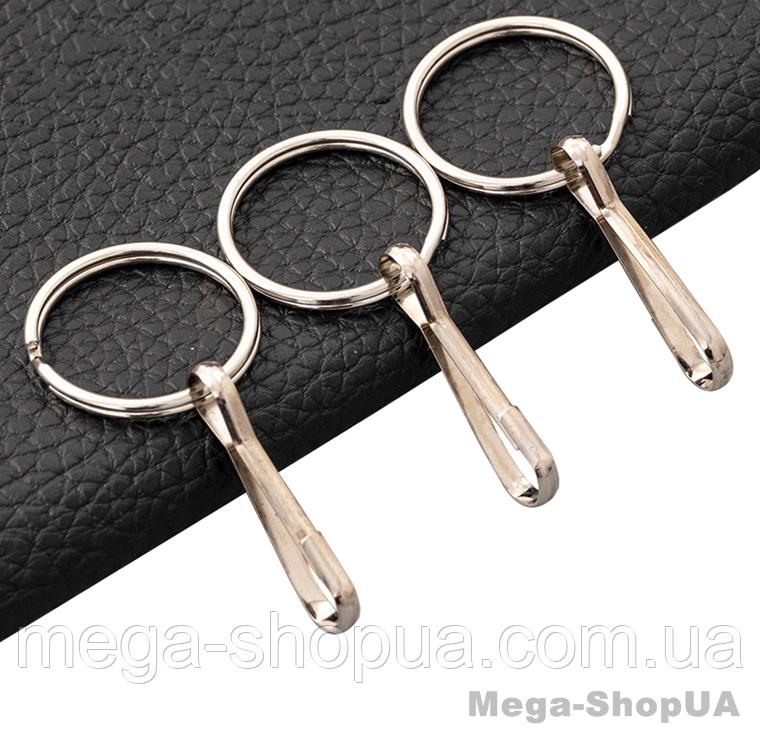 Кольцо с карабином для ключей 3 штуки. Брелок для ключів Silver