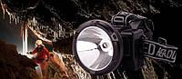 Налобный фонарик с солнечной панелью GD 215S + solar