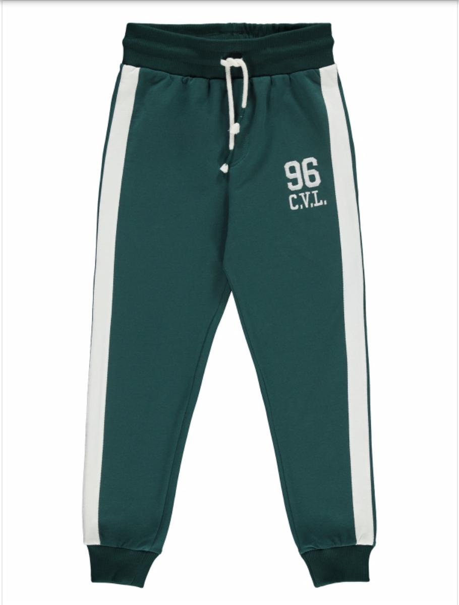 Дитячі спортивні штани для хлопчика 128 8 років зелені з утяжкой