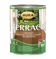 Масло для террас Aura Terrace (коричневый цвет), 0.9 л