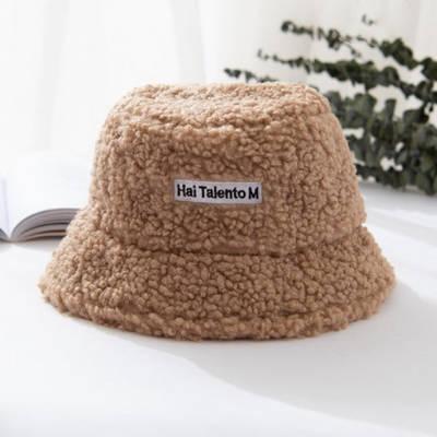 Панама женская плюшевая с логотипом Hai Talento M меховая теплая зимняя пушистая панамка