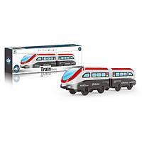 Потяг AU9889 локомотив 2 шт., їде, бат., кор., 27-8,5-5 см.