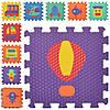 Килимок Мозаїка MR 0358 EVA, підлогове покриття, транспорт, 9 дет., кул., 32-32-8,5 см.