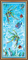 """Набор для вышивания бисером на художественном холсте """"Рыбки 3"""""""