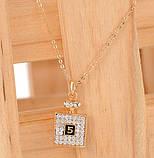 Набір прикрас жіночий ланцюжок з кулоном та сережки код 216, фото 6