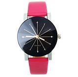 Наручные женские кварцевые часы с розовым ремешком код 153, фото 2