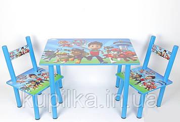 Набор детской деревянной мебели Столик + 2 стульчика PAW Patrol Щенячий патруль