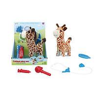 Тварина T829-2 жираф, набір ветеринара, ходить, муз., бат., кор., 22-26-11,5см.