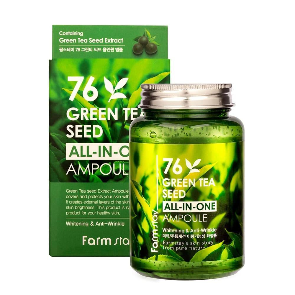FarmStay 76 Green Tea Seed All In Ampoule Сироватка з насінням зеленого чаю, 250 мл