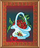 """Набор для вышивания бисером на художественном холсте """"Малина"""""""