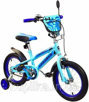 Двухколесный детский велосипед 16 дюймов Like2bike Sprint 191634 Голубой