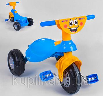 Яркий детский трехколесный велосипед Pilsan My Pet 07-132 с пластиковыми колесами