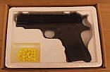 Пистолет игрушечный на пульках ZM22, металический, детское оружие, фото 4