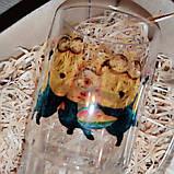 Печать на пивном бокале стеклянный прозрачный граненый снизу 650мл, фото 5