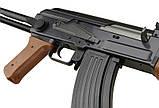 Автомат Калашникова ZM93-S, (Р1093) пульки в комплекті, метал, складаний приклад, іграшкова зброя, фото 6