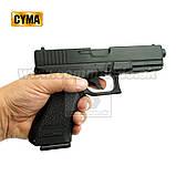 Игрушечный пистолет ZM17, копия Glok 17, на пульках, с предохранителем, затворная задержка, игрушечное оружие, фото 6