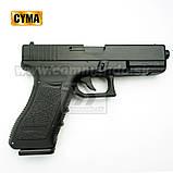 Игрушечный пистолет ZM17, копия Glok 17, на пульках, с предохранителем, затворная задержка, игрушечное оружие, фото 9