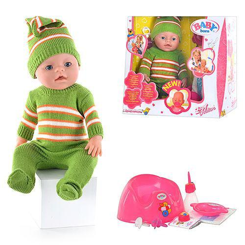 Пупс лялька Baby Born Бейбі Борн BB 8001-H (Зима), плаче, їсть, п'є, пісяє, рухається, закрывае оченята