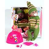 Пупс лялька Baby Born Бейбі Борн BB 8001-H (Зима), плаче, їсть, п'є, пісяє, рухається, закрывае оченята, фото 2