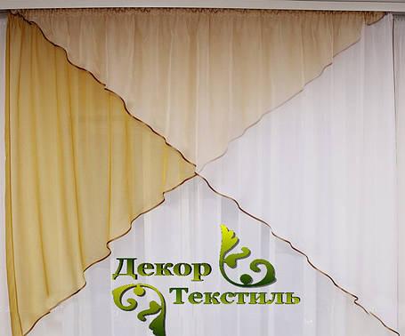 "Комплект кухонный ламбрекен+гардина ""Дуэт"" (Горчичный), фото 2"